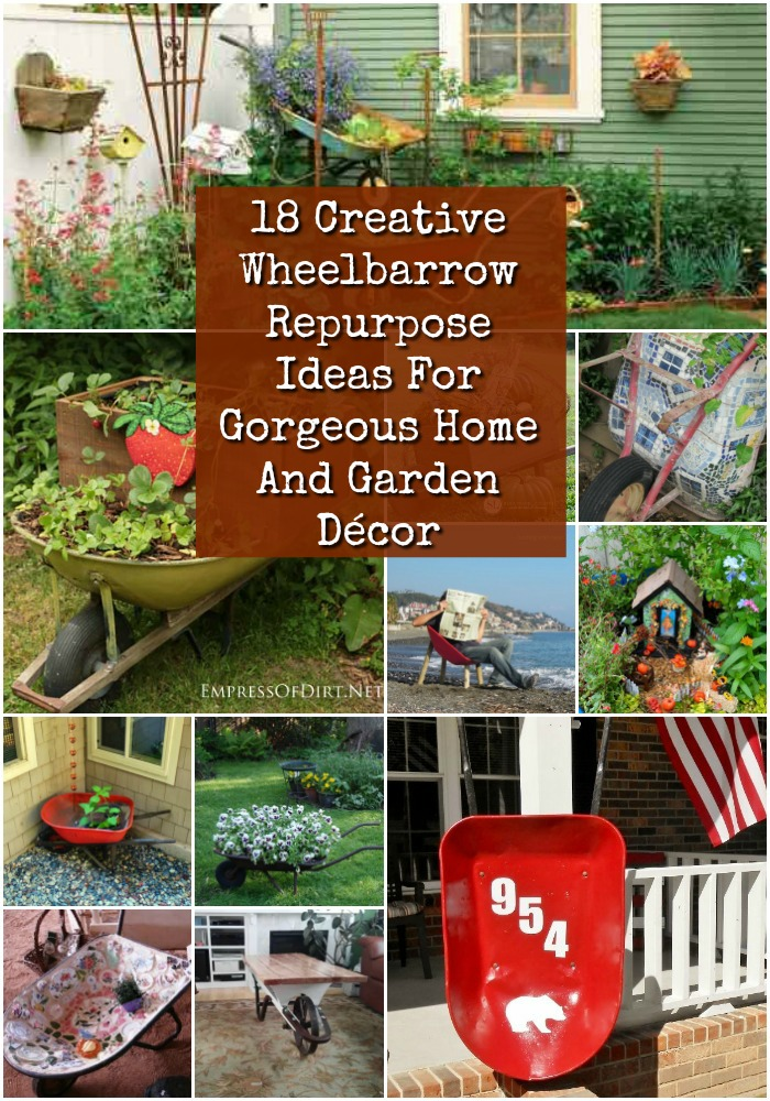18 Cool Wheelbarrow Repurposing Ideas For Gorgeous Home And Garden Decor Diy Crafts