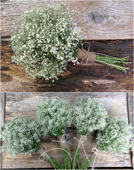 Simple Rustic Baby's Breath Bouquet