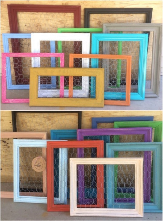 Framed Chicken Wire Organizers