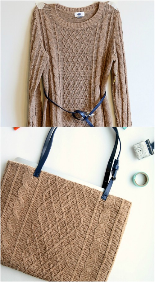 Upcycled Sweater Laptop Bag