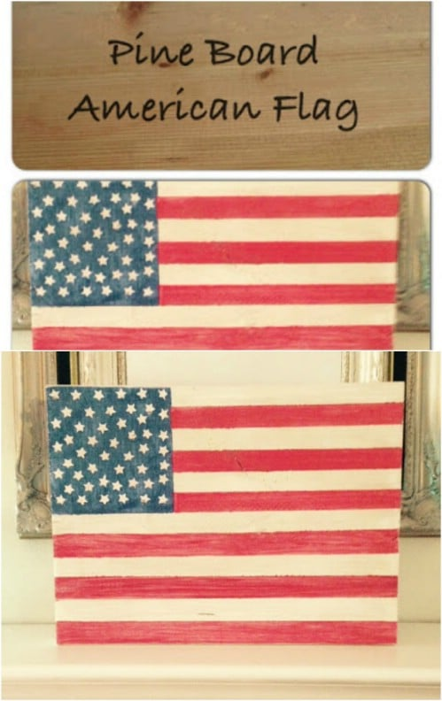 Easy DIY Wooden 4th Of July Flag
