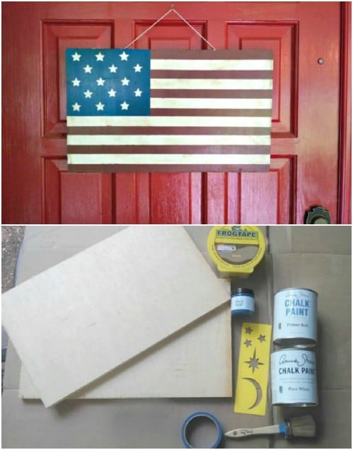 Chalk Paint Americana Flag