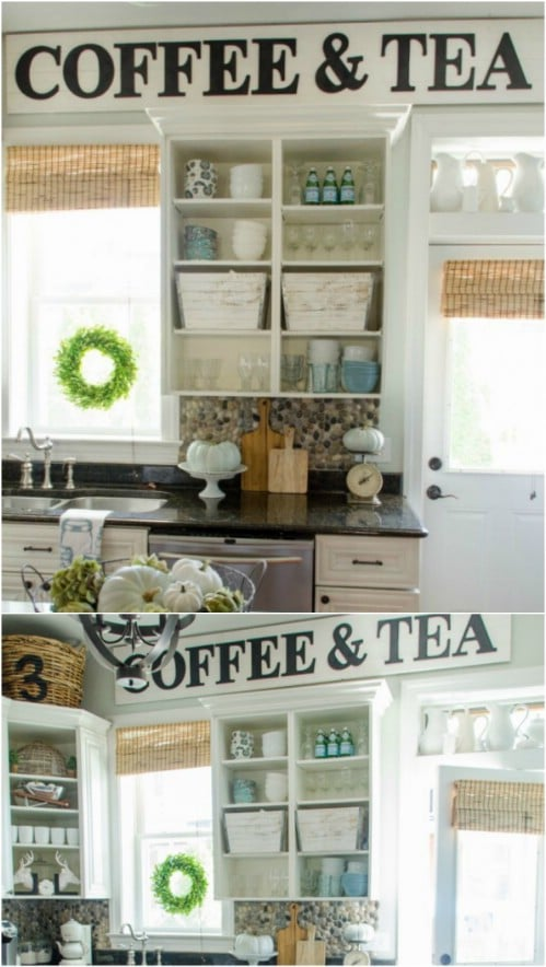 DIY Coffee And Tea Plank Sign