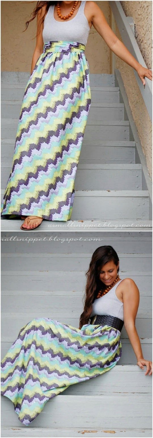 DIY Multi Colored Maxi Tank Dress