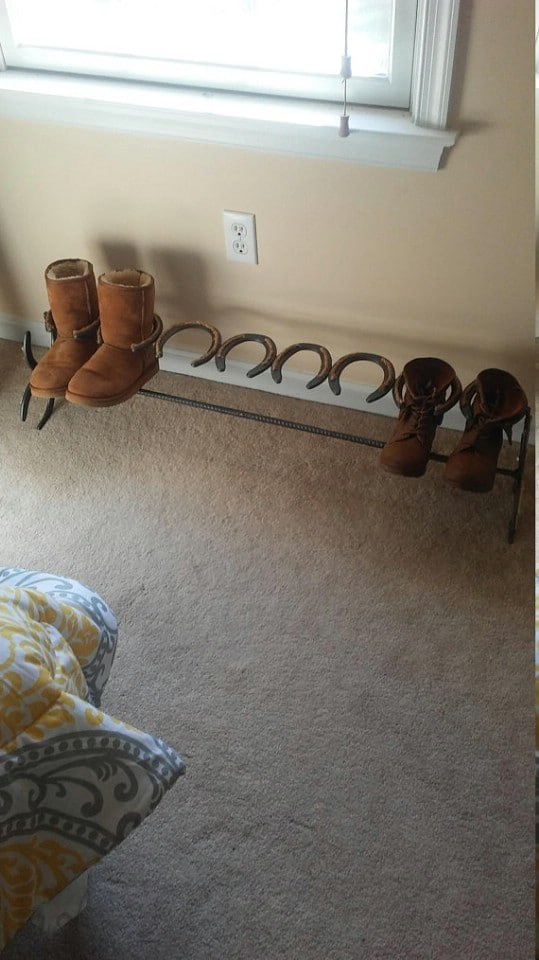 Horseshoe Boot Organizer