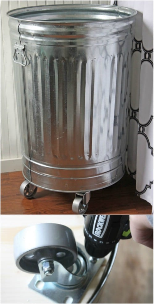 Creative DIY Industrial Style Laundry Hamper