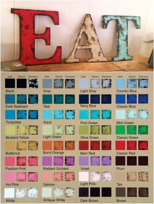 Rustic EAT Wooden Letters