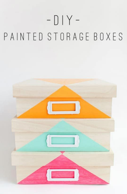 Simple DIY Painted Storage Boxes