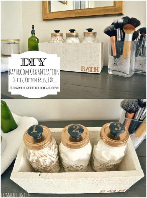DIY Mason Jar Storage With Knobs
