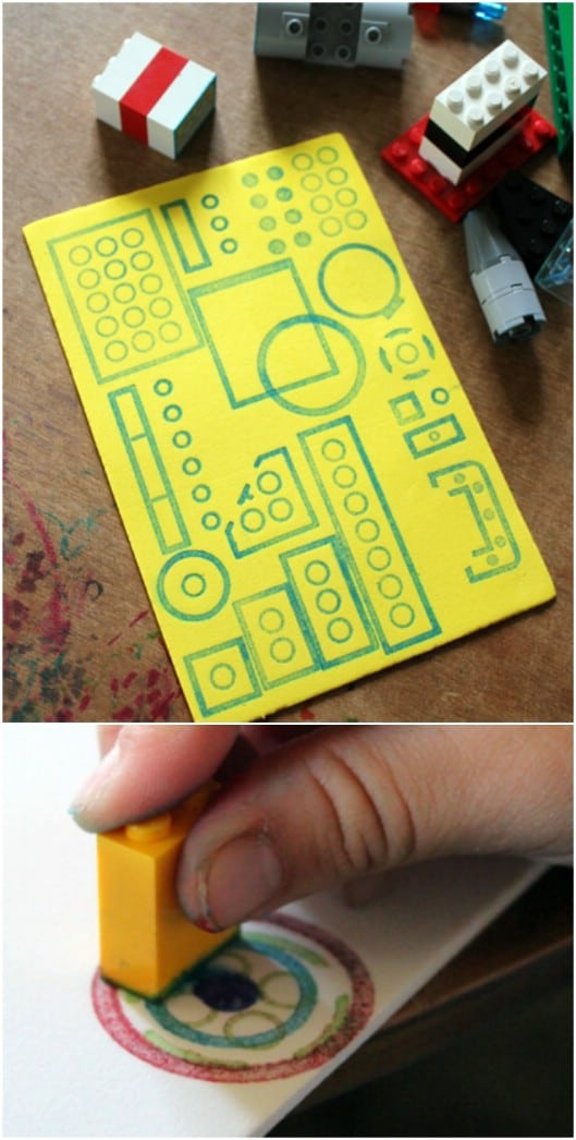 DIY Lego Art Stamps
