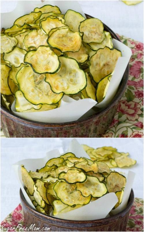 Homemade Salt And Vinegar Zucchini Chips
