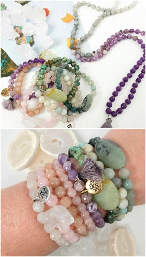 Healing Crystal Stack Bracelets