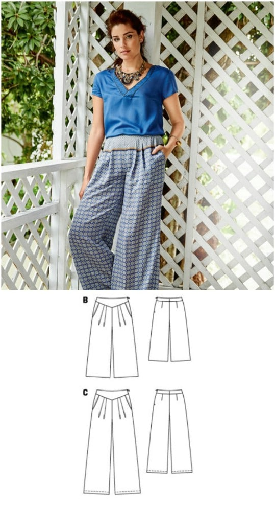 Bohemian Style Wide Trousers