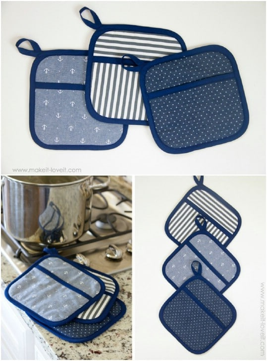 Square Pocketed Hot Pads