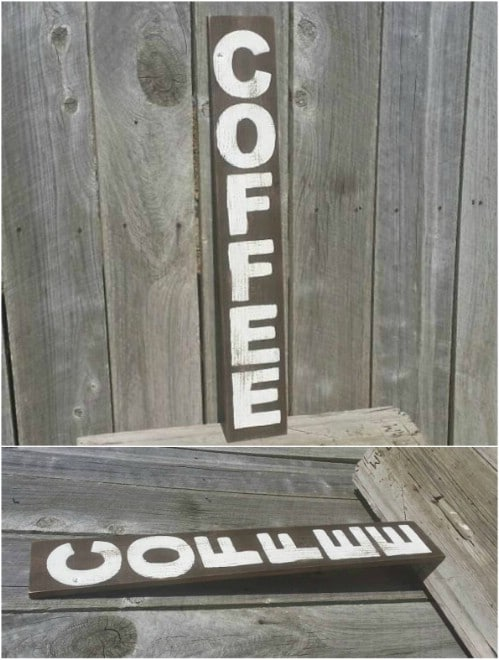 Easy DIY Vertical Coffee Sign