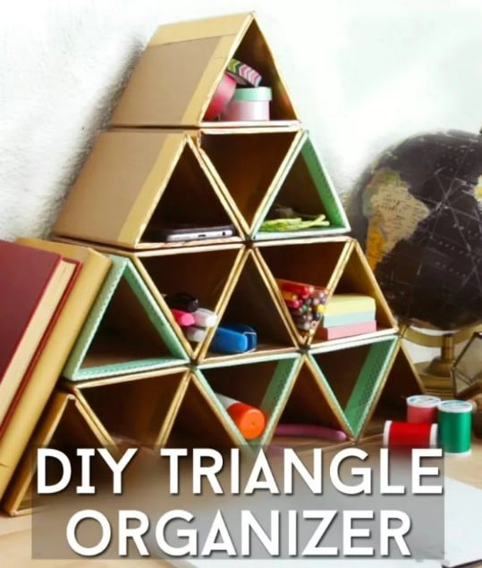 DIY Triangle Wall Organizer