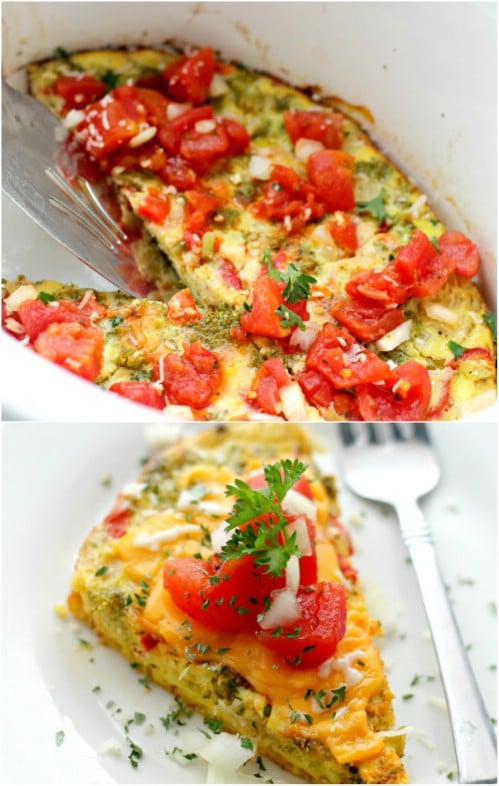 Easy Slow Cooker Omelet