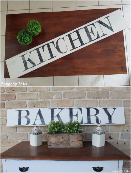 DIY Farmhouse Bakery Sign