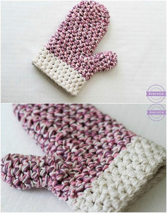 DIY Crocheted Oven Mitt