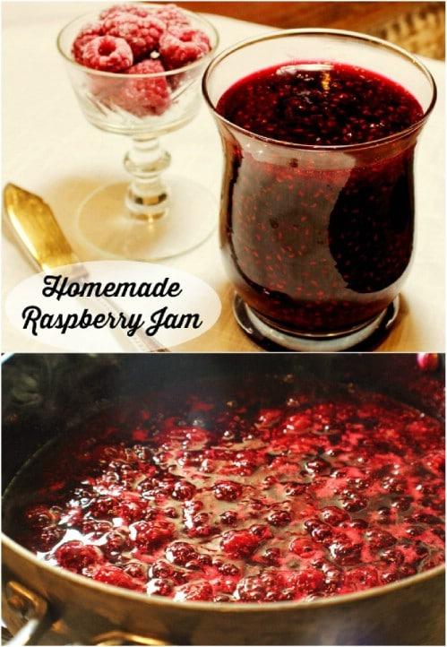 Simple Two Ingredient Raspberry Jam