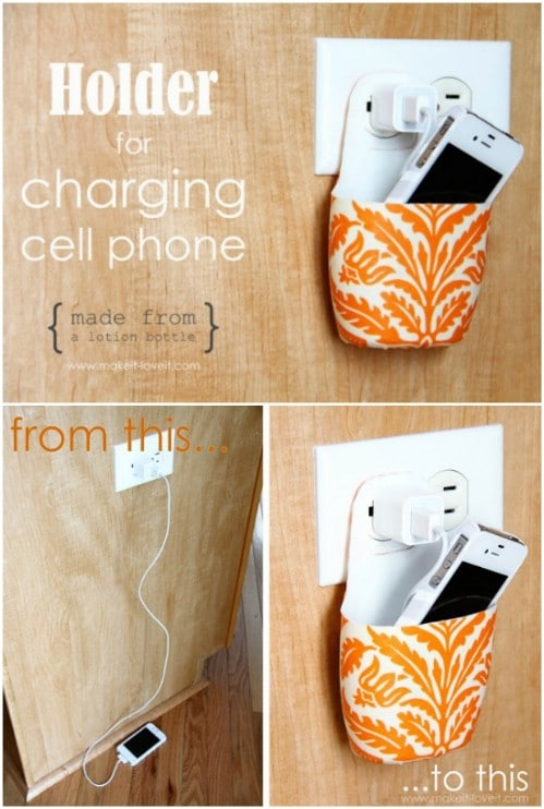 Recycled Bottle Hanging Charging Station