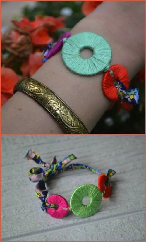 Colorful Repurposed Washer Bracelet