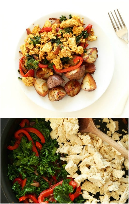 Simple Southwest Tofu Scramble