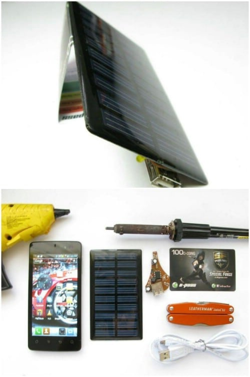 $5 Portable Solar Phone Charger
