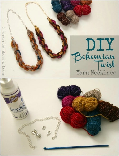 DIY Twisted Yarn Necklace