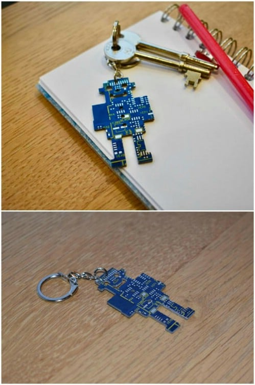 Recycled Circuit Board Keychain