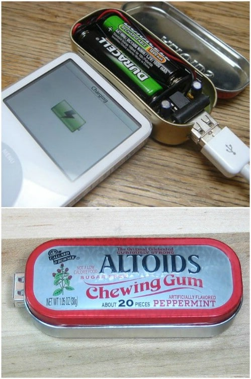 Small DIY Battery Powered USB Charger