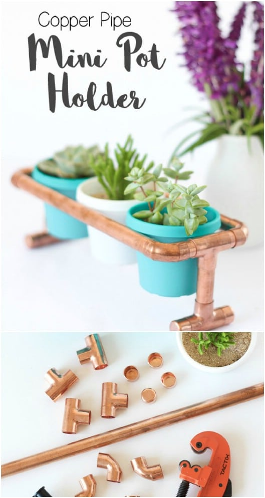 DIY Copper Pipe Mini Pot Stand