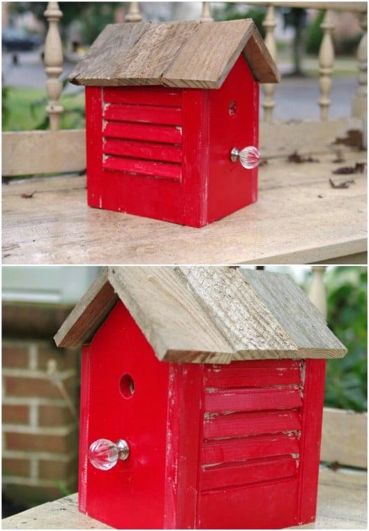 DIY Rustic Shutter Birdhouse