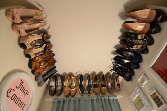 Cheap Repurposed Crown Molding Shoe Rack