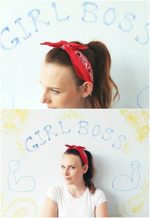 Cute DIY Bandana Headband