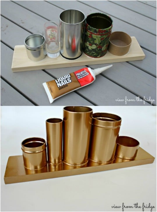 Neat $3 Gold Desk Organizer