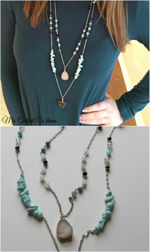 DIY Boho Style Chain Necklace