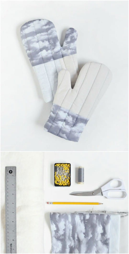 Easy DIY Quilted Cloud Oven Mitts