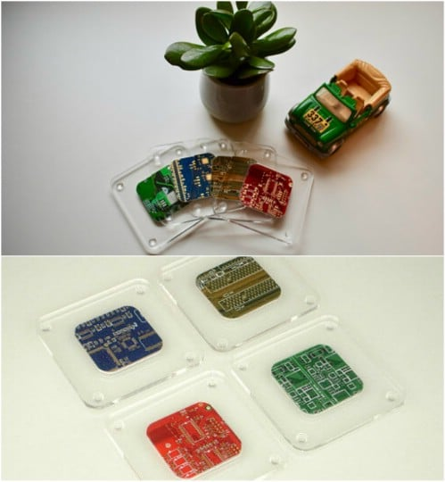 Tech Savvy Circuit Board Coasters
