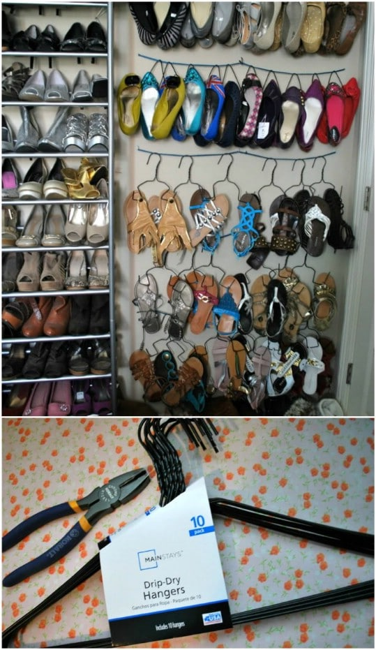 Easy DIY Sandal And Flip Flop Hangers