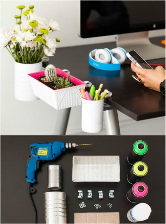 Simple DIY Clip On Desk Organizers