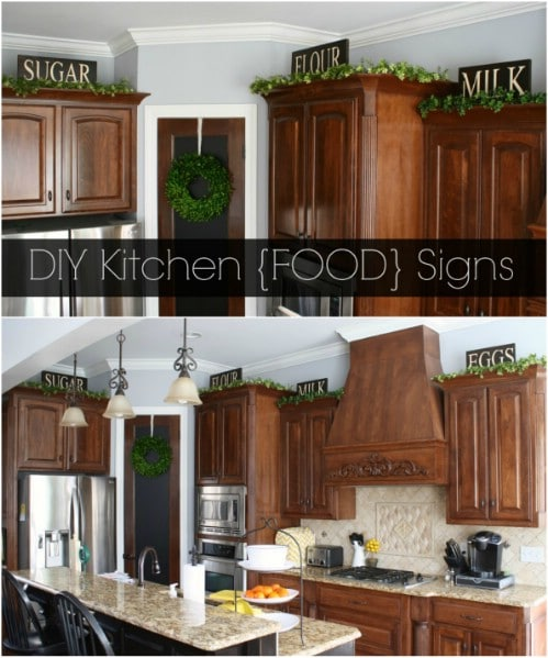 Rustic Wooden Kitchen Food Signs