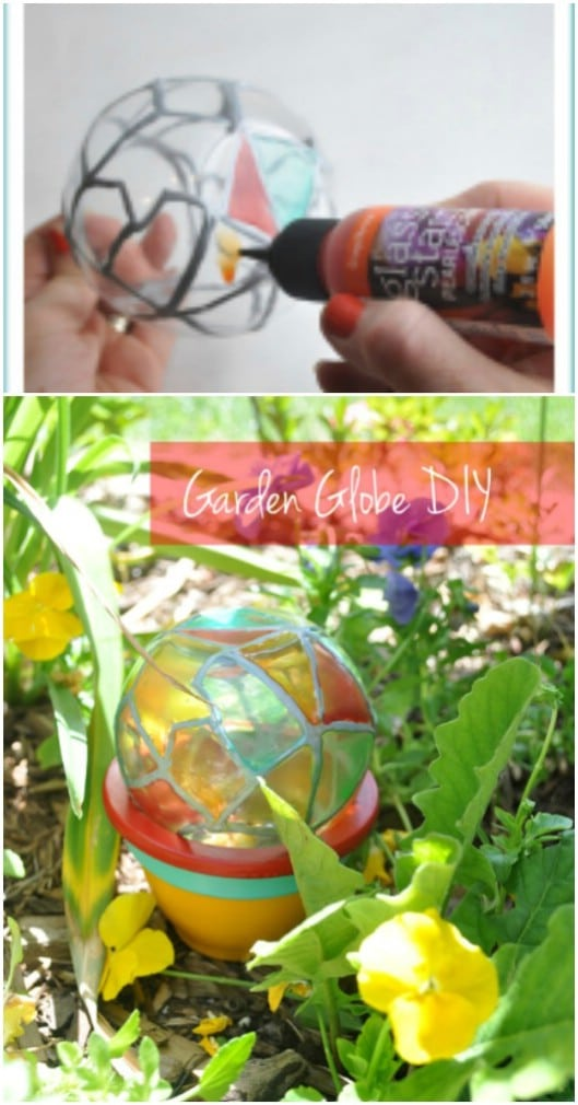 DIY Stained Glass Garden Globes