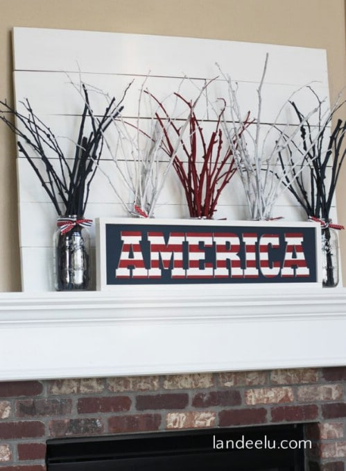DIY Wooden America Sign