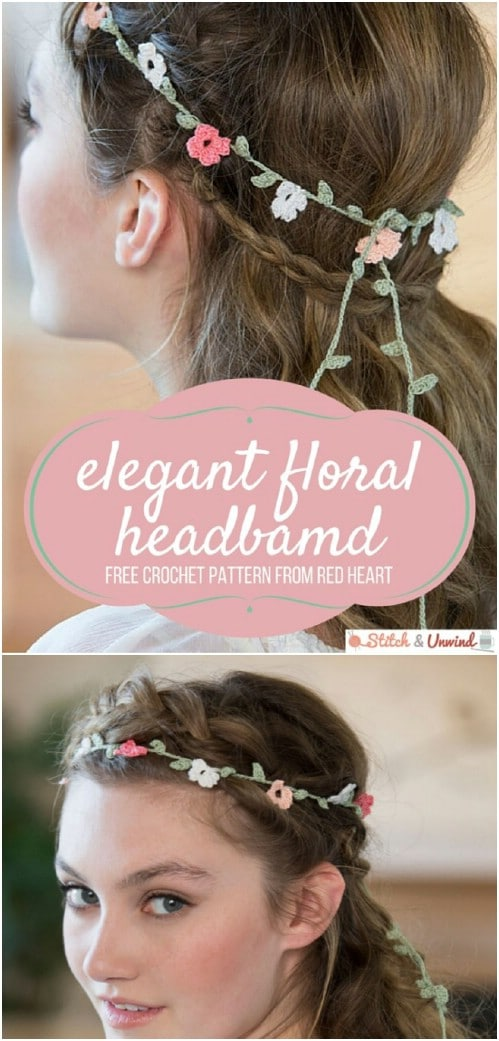 DIY Crocheted Elegant Floral Headband
