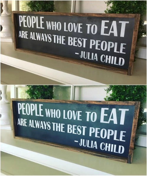 Julia Child Framed Kitchen Sign