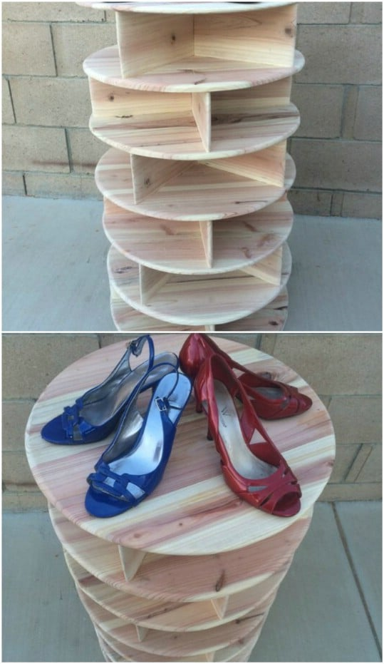 Wooden Spinning Shoe Carousel