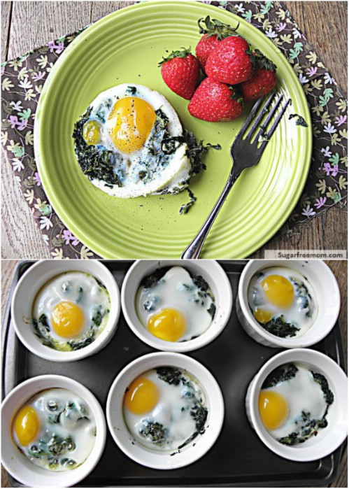 Cheesy Spinach And Eggs