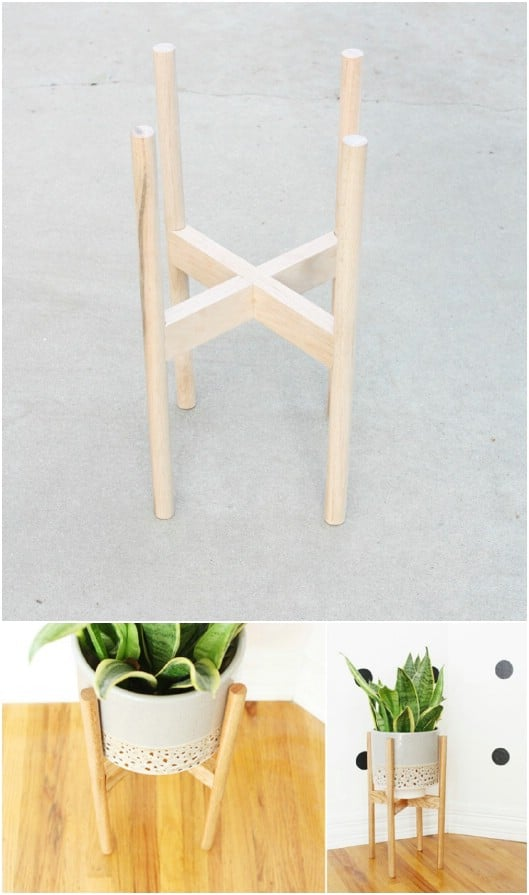 Super Easy Wooden Plant Stand