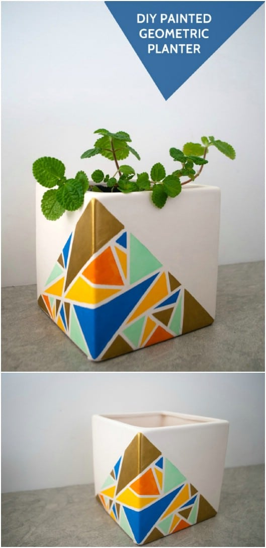 DIY Geometric Planter/Stand Combo